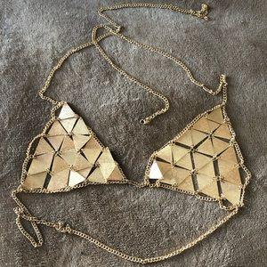 Jewelry - Gold Chain Bra